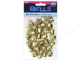 Darice $3 - $4: Darice Jingle Bells 3/4 in. Gold 30 pc.