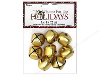 Darice Bells Jingle 25mm Matte Gold 8pc