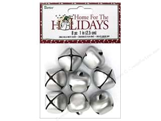 Darice Bells Jingle 25mm Matte Silver 8pc