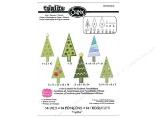 Dies Christmas: Sizzix Dies Set Stephanie Barnard Christmas Trees