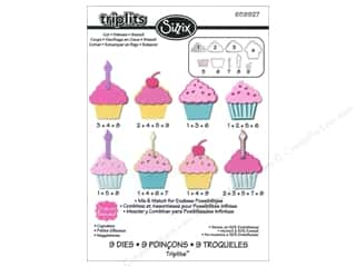 Party & Celebrations Scrapbooking & Paper Crafts: Sizzix Dies Set Stephanie Barnard Cupcakes