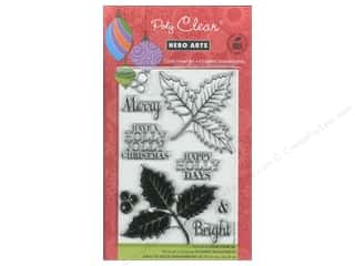 Clearance Art Impressions Rubber Stamp: Hero Arts Poly Clear Stamp Holly Jolly