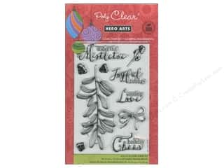 Rubber Stamping $10 - $61: Hero Arts Poly Clear Stamp Under The Mistletoe