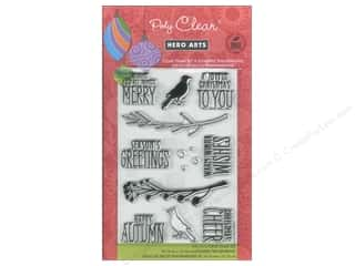 Hero Arts Poly Clear Stamp Bird & Branch Christmas