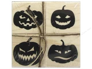 Wood Halloween: Hero Arts Rubber Stamp Set Faces For Halloween