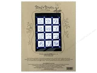 "Bird Brain Design 14"": Bird Brain Designs Snowman & Reindeer Bluework Quilt Pattern"