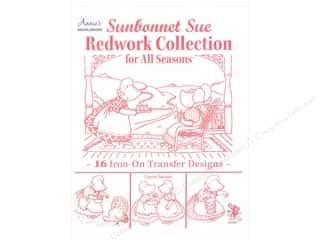 Annies Attic Home Decor: Annie's Sunbonnet Sue Redwork Collection Book by Loyce Saxton