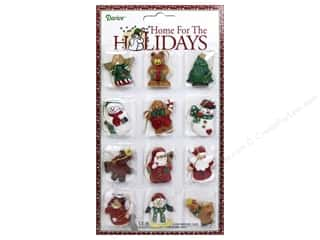 "Ornaments $5 - $15: Darice Decor Holiday Ornament 1.5"" Christmas Figure 12pc"