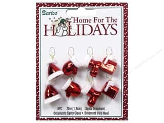 "Gloves Clearance Crafts: Darice Decor Holiday Ornament .75"" Santa Assorted 8pc"