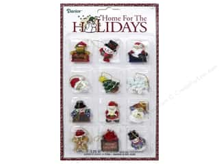 "Home Decor Blue: Darice Decor Holiday Ornament 1.25"" Christmas Resin 12pc"