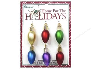 "Christmas Darice Holiday Decor: Darice Decor Holiday Ornament 1.4"" Bulb Matte Multi 6pc"