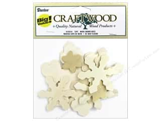 Darice Decor Craftwood Wood Snwflk Big Value 15pc