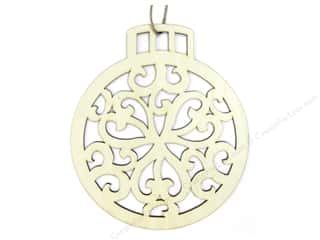 Ornaments Hearts: Darice Decor Ornament Laser 6.5""