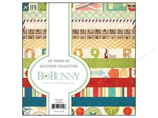 arrow burgundy: Bo Bunny 6 x 6 in. Paper Pad Souvenir