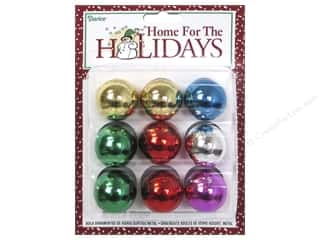 Ornaments: Darice Decor Holiday Ornament 25mm Metallic Assorted 9pc