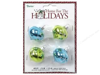 Glass Christmas: Darice Decor Holiday Ornament Snowflake Teardrop Bright 4pc
