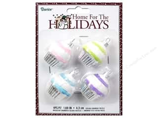 Darice Decor Holiday Ornmt Cupcake Pastels 4pc