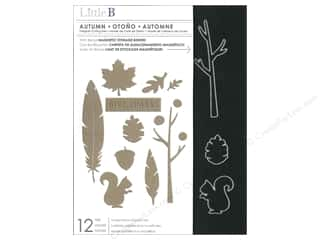 Stenciling Fall / Thanksgiving: Little B Cutting Dies Autumn