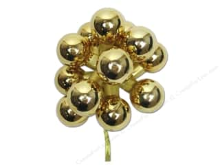Darice Decor Holiday Ornament 25mm Glass Gold 12pc
