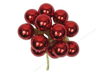 Darice Decor Holiday Ornament 25mm Glass Red 12pc