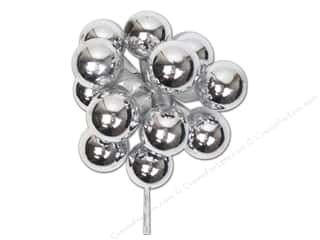 Glass Christmas: Darice Decor Holiday Ornament 25mm Glass Silver 12pc