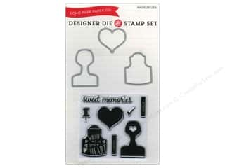 Bottles Hearts: Echo Park Designer Die & Stamp Set Creative Agenda Collection Sweet Memories