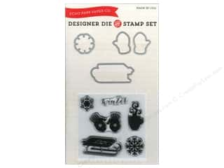 Gloves Clearance Crafts: Echo Park Designer Die & Stamp Set Let It Snow