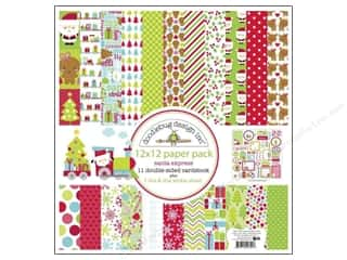 "Crafting Kits Winter: Doodlebug Santa Express Collection Paper Pack 12""x 12"""