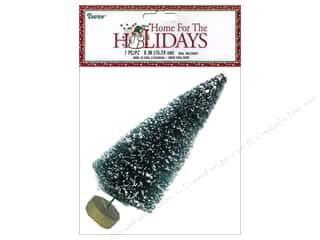 "Miniatures / Scene Miniatures Tan: Darice Decor Holiday Sisal Christmas Tree 6"" Frost 1pc"