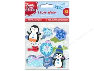 Darice Foamies Sticker I Love Winter 13pc