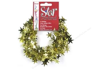 Plastic Shapes: Darice Decor Garland Star 25' Gold