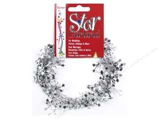 Party Supplies Metallic: Darice Decor Garland Mini Star 9' Silver
