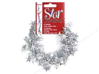 Darice Decor Garland Star 18' Laser Silver