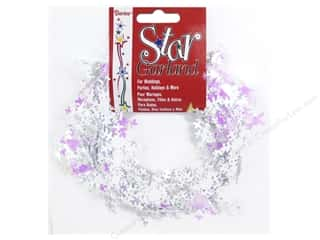 Party Favors: Darice Decor Garland Snowflake 25' Iridescent White