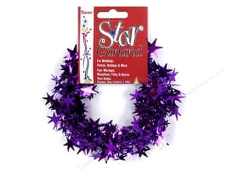 Darice Decor Garland Star 25' Purple