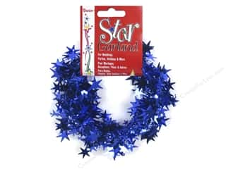 Plastics Blue: Darice Decor Garland Star 25' Royal