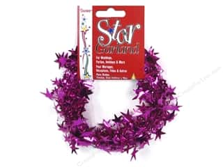 Party Supplies Metallic: Darice Decor Garland Star 25' Magenta