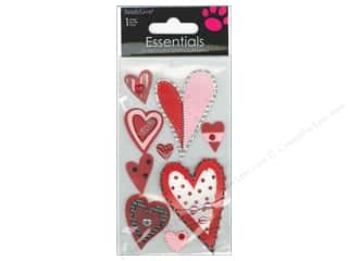 Valentine's Day Rhinestones: SandyLion Sticker Essentials Red & Black Heart