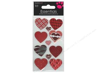 SandyLion Sticker Essentials Patterned Hearts