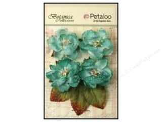 Flowers / Blossoms Blue: Petaloo Botanica Collection Sugared Blooms Teal