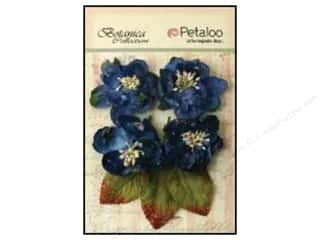 Flowers / Blossoms Blue: Petaloo Botanica Collection Sugared Blooms Royal Blue