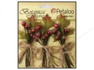 Petaloo Decorative Floral Critters & Accessories: Petaloo Botanica Collection Sugared Berries Red