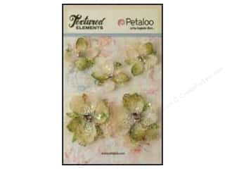 Petaloo $2 - $3: Petaloo Textured Elements Jeweled Flowers Ivory