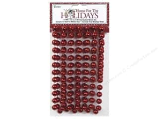 Darice Decor Holiday Garland Bead 12mm Met Red 9'