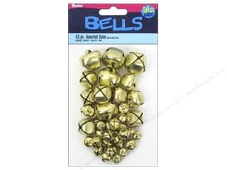 Darice Bells Jingle Assorted Gold 43pc