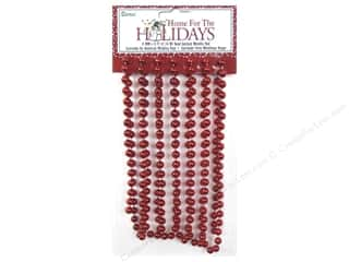 Metal mm: Darice Decor Holiday Garland Bead 8mm Metallic Red 9ft