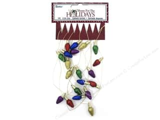 Lights: Darice Decor Holiday Garland Glitter Bulbs Multi 6.5ft