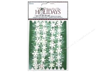 Ornaments Winter Wonderland: Darice Decor Holiday Garland Snowflake Fuzzy Iridescent 36""