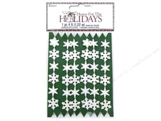 Darice Decor Holiday Garland Snowflake Irid Wht4ft