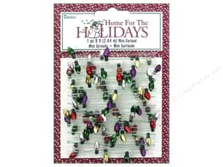 Lights: Darice Decor Holiday Garland 8mm Metallic Bulbs 8ft